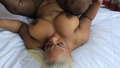Sexy ebony threesome