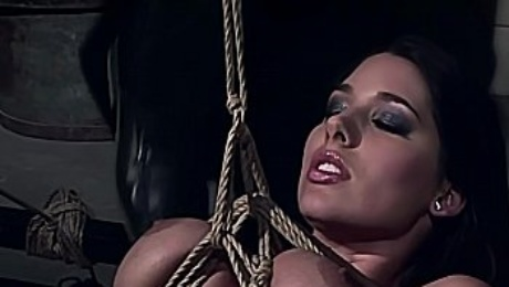 Incredible beauty Zafira, tied and spanked. The full BDSM bondage sex movie.
