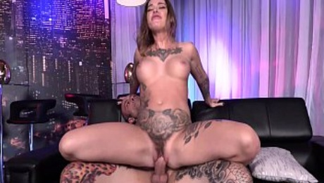 Kleio Valentien Big Tits Lactating And Hairy Pussy Fucked