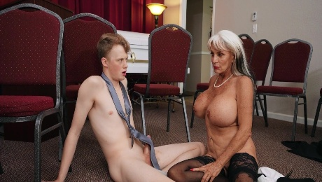Mature widow gets fucking right there are the funeral