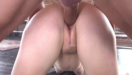 Ginger whore soaks pussy with endless cock