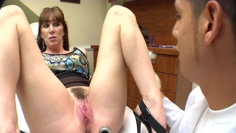 Horny milf's fucked silly by her gynaecologist