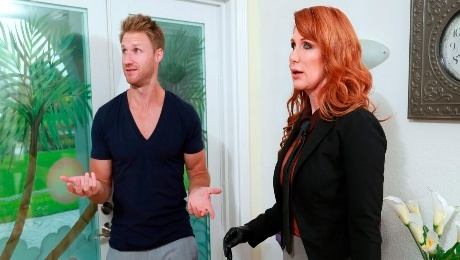 Video 🌶️ Sweetheart redhead Freya Fantasia rides on a large young penis