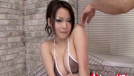 Busty Jap turned to a sex slave spraying her sweet juices