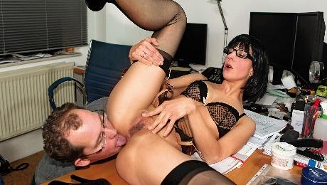 Mature German secretary ass fucked by her boss
